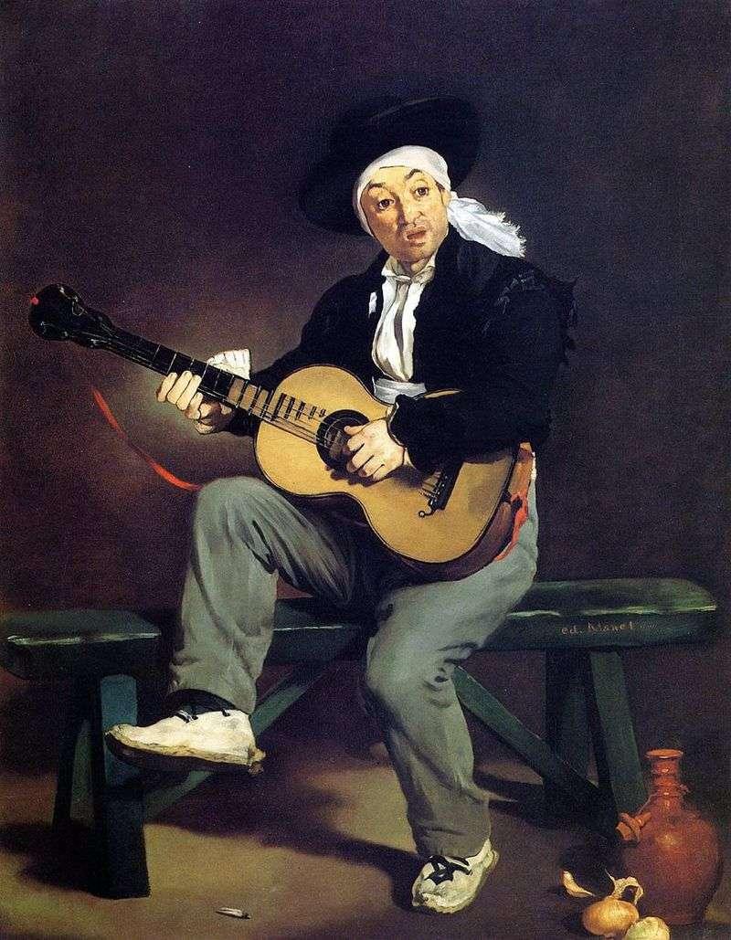 Hiszpański gitarzysta   Edouard Manet