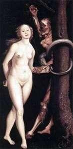 Ewa, wąż i śmierć   Hans Baldung