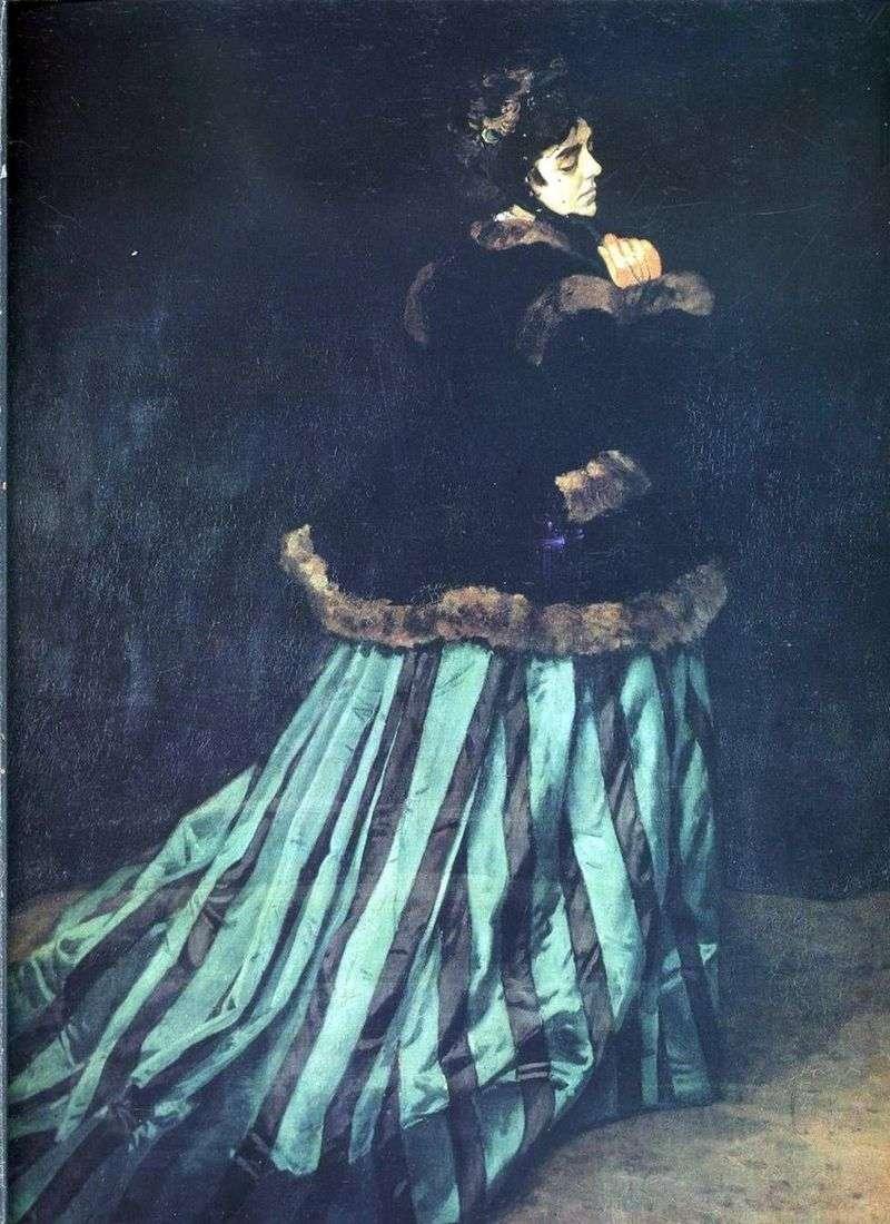 Camilla (kobieta w zielonej sukni)   Claude Monet