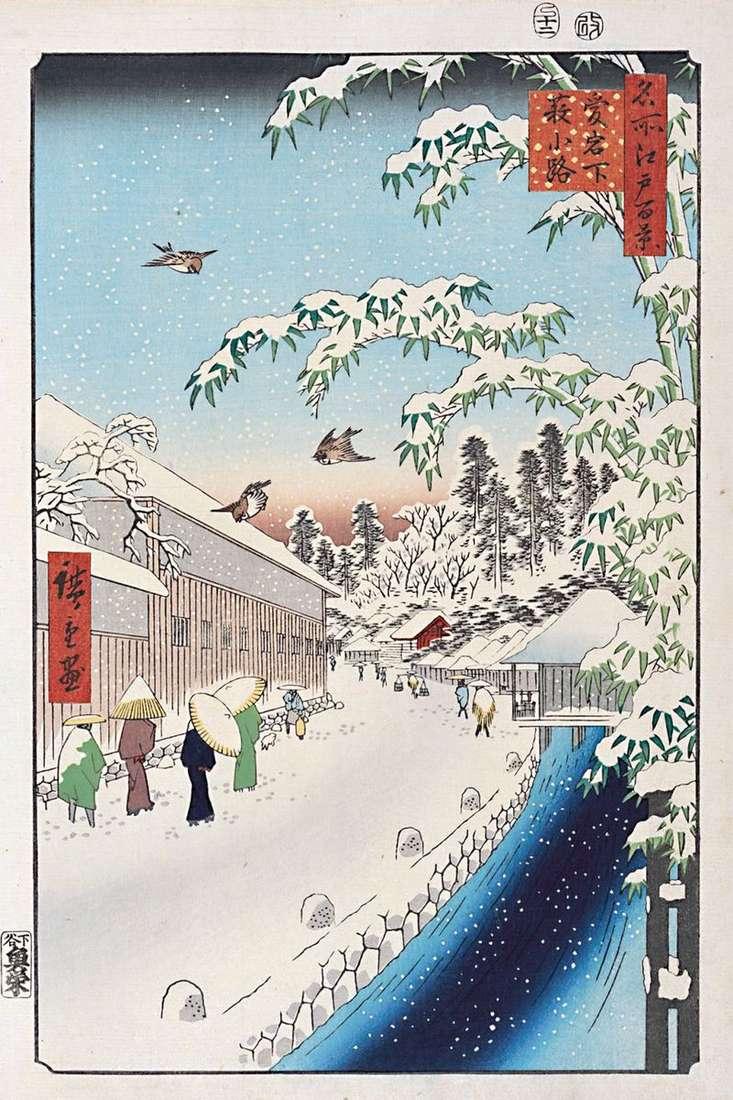 Atagosita, Yabukoji Street   Utagawa Hiroshige