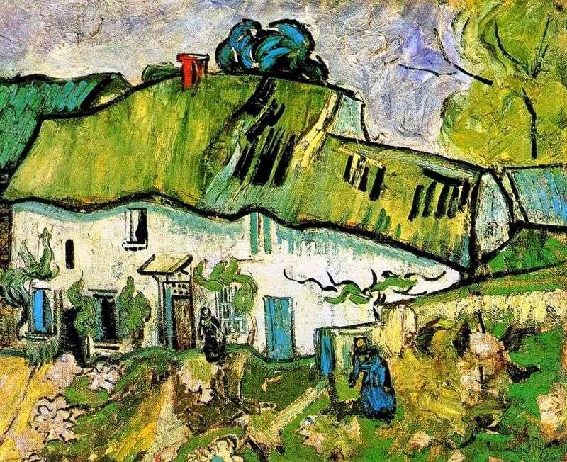 Dom z dwoma postaciami   Vincent Van Gogh