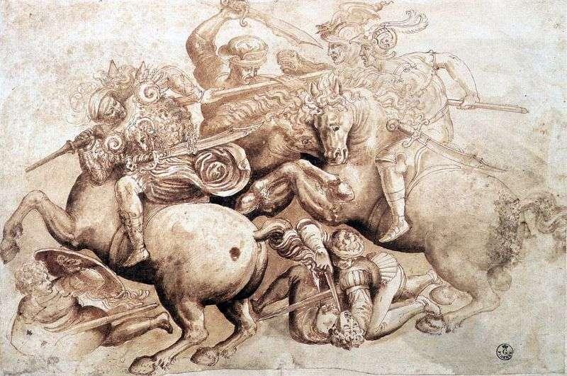Bitwa Angiarian   Leonardo da Vinci