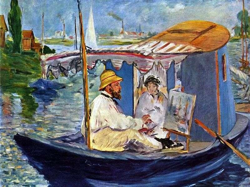 Studio łodzi Claude Monet   Edouard Manet