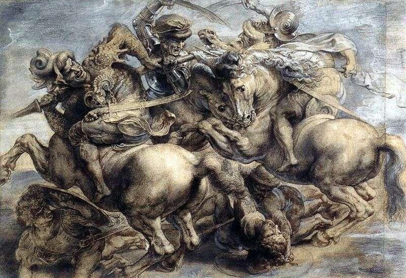 Bitwa pod Anghiari   Leonardo da Vinci