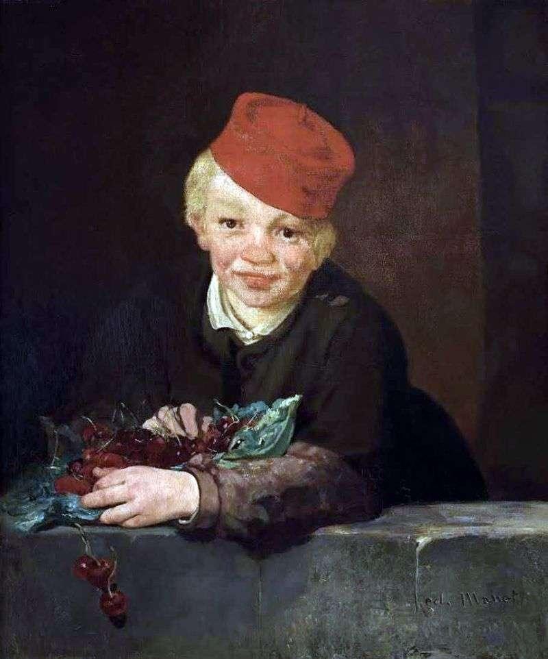 Cherry Boy   Edouard Manet