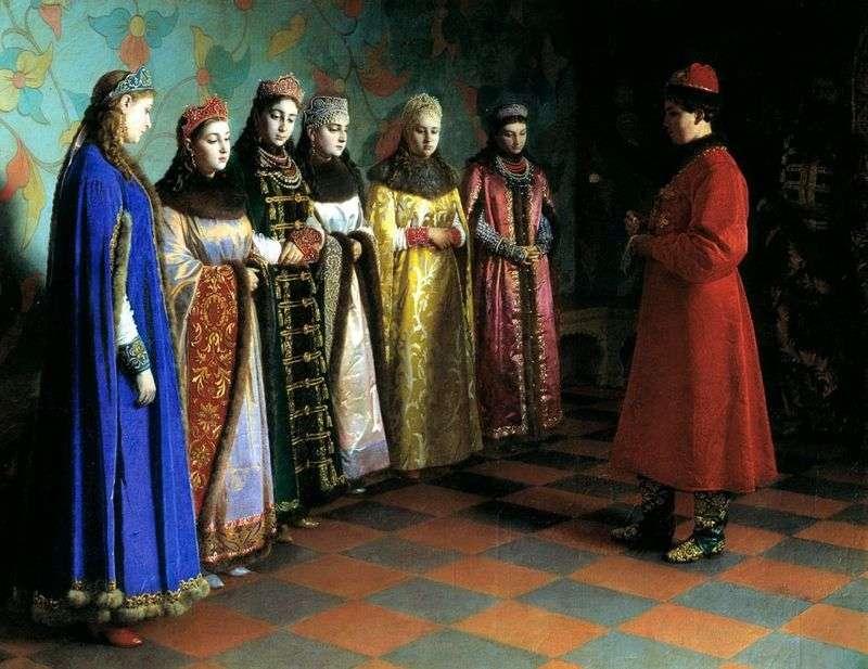 Wybór panny młodej Car Aleksiej Michajłowicz   Grigorij Siedow