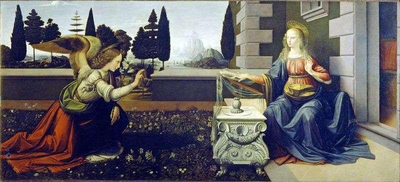 Zwiastowanie   Leonardo Da Vinci