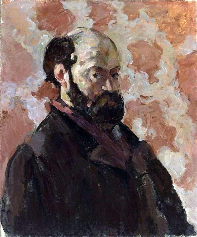 Autoportret na różowym tle   Paul Cezanne