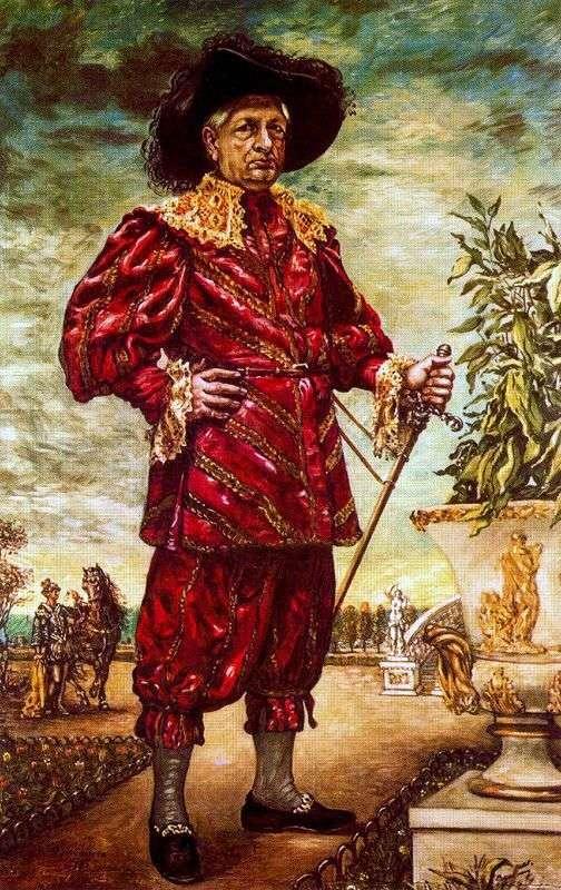 Autoportret w ogrodzie   Giorgio de Chirico