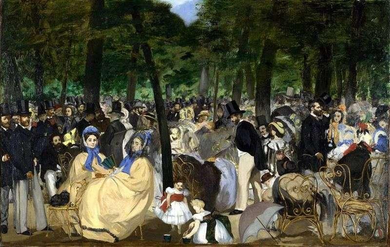 Muzyka w Tuileries   Edouard Manet