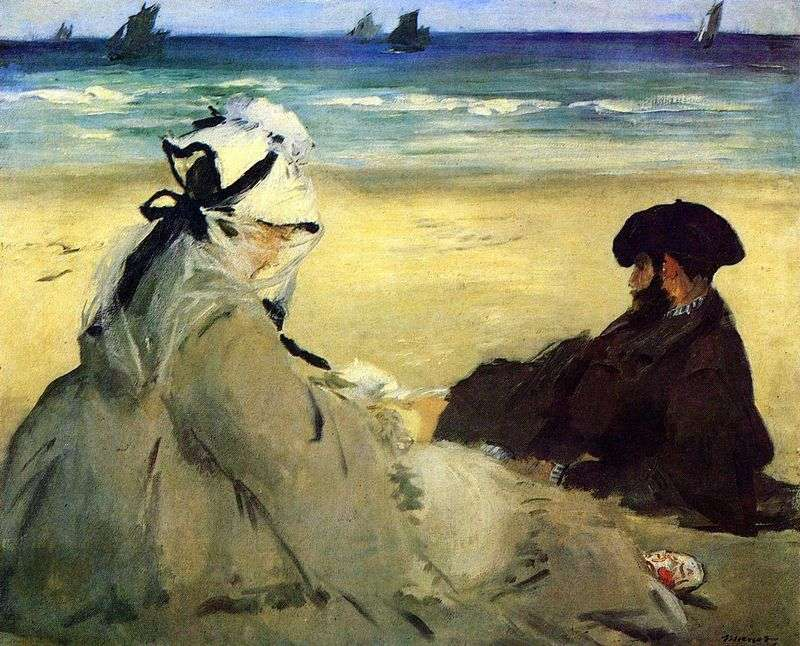 Nad morzem   Edouard Manet