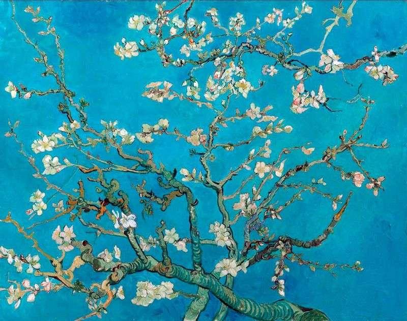 Kwiat migdałowca   Vincent Van Gogh