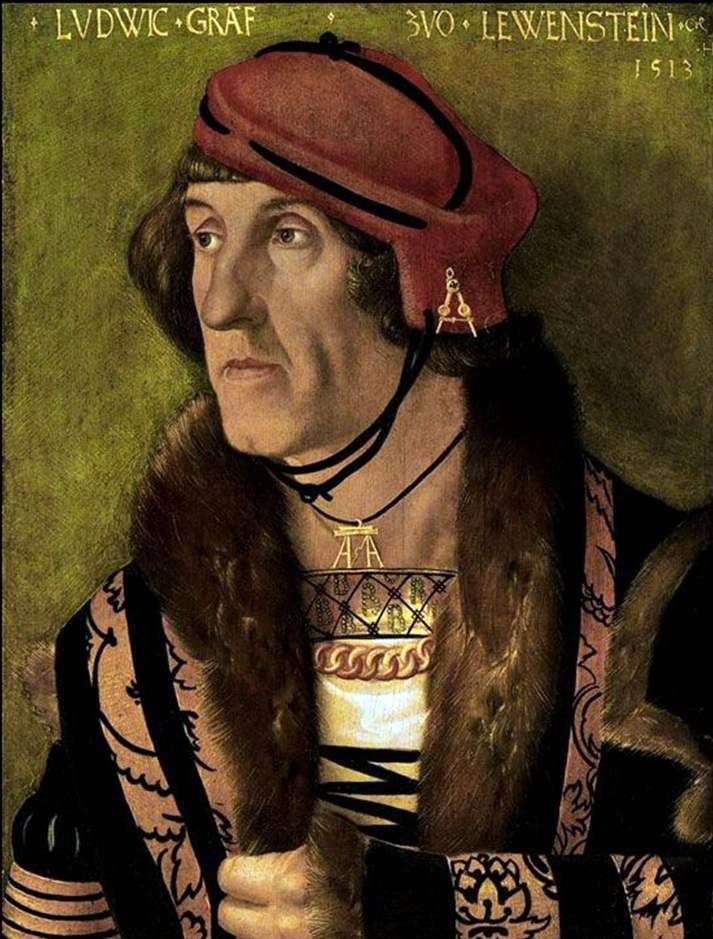 Portret hrabiego Ludwiga Levensteina   Hansa Baldunga