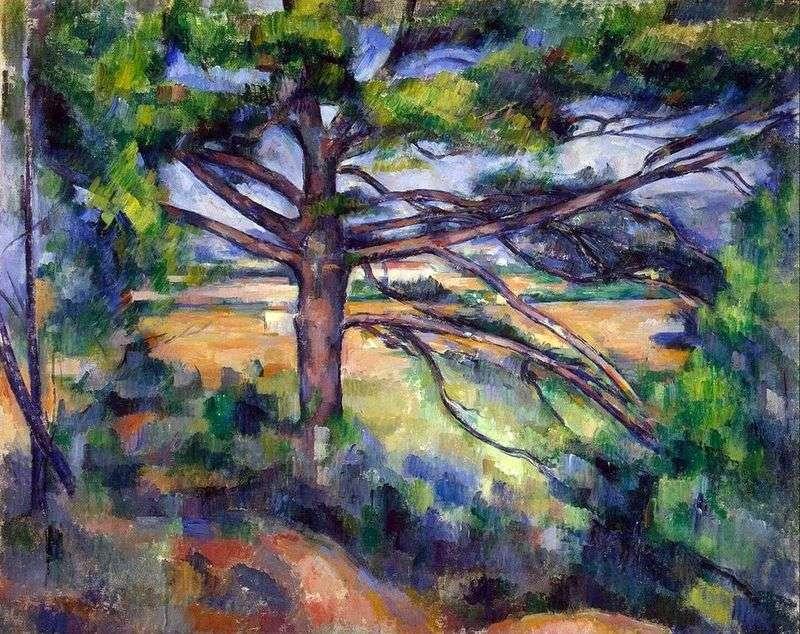 Duża sosna w pobliżu Aix   Paul Cezanne