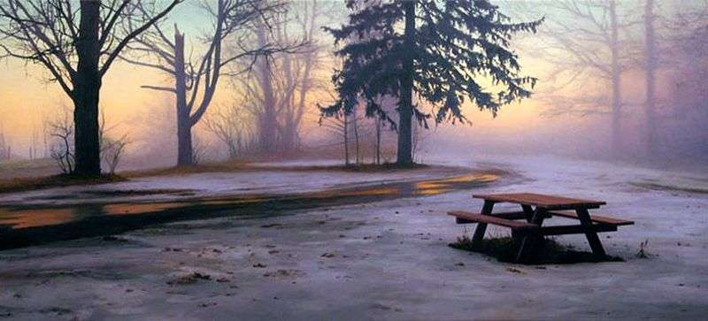 Zimowy stół piknikowy   Scott Pryor