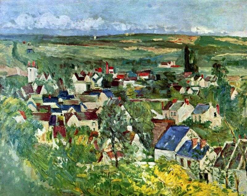 Widok na Auvers   Paul Cezanne