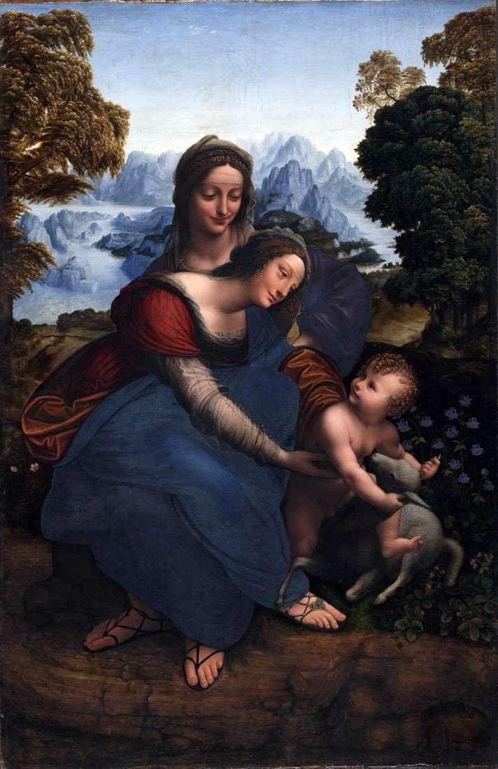 Maryja z Dzieciątkiem i Święta Anna   Leonardo da Vinci