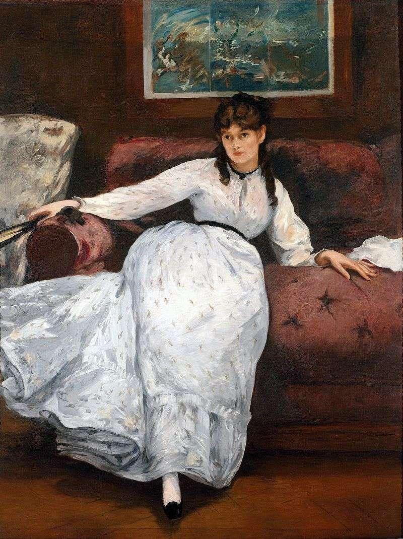 Portret Bertha Morisot   Edouard Manet