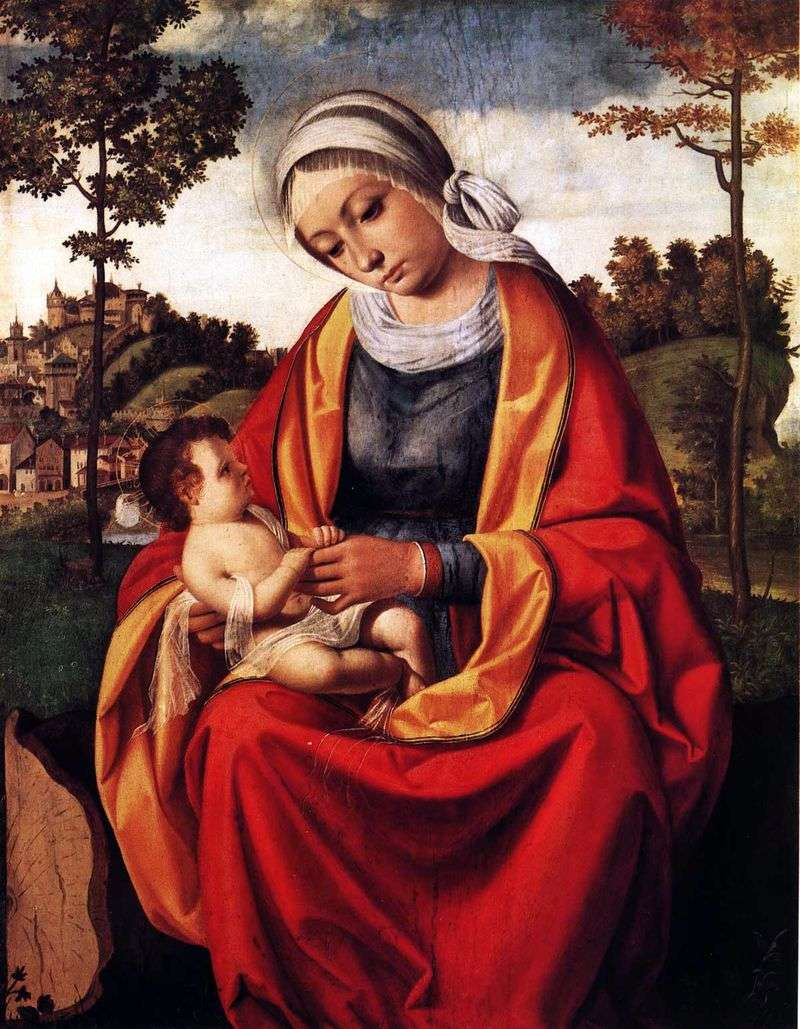 Maryja i dziecko   Andrea Previtali