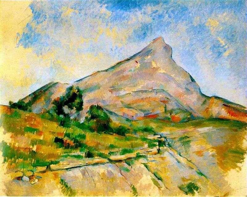 Mount Saint Victoire (Mount Saint Victoria)   Paul Cezanne