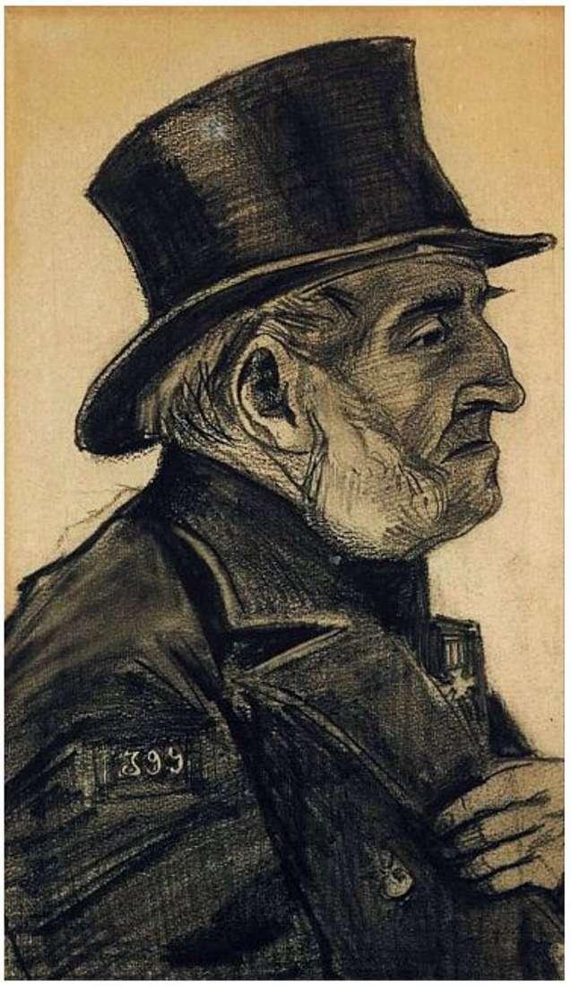 Człowiek z sierocińca w cylindrze   Vincent Van Gogh