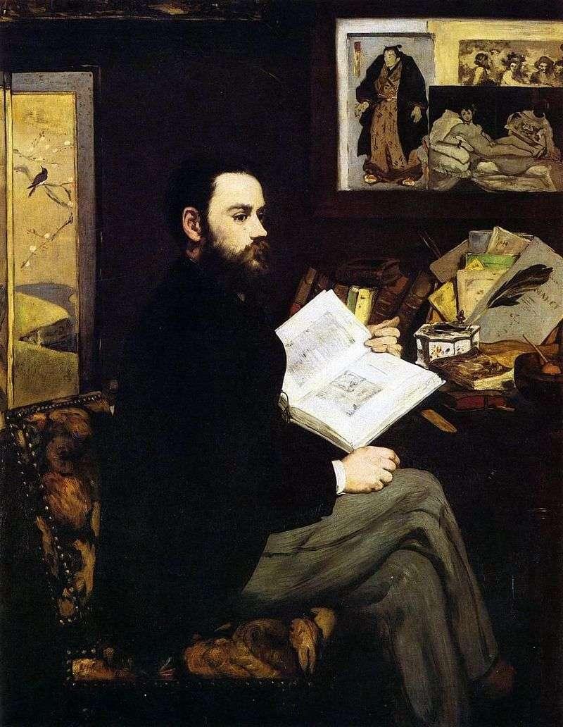 Portret Emile Zola   Edouard Manet