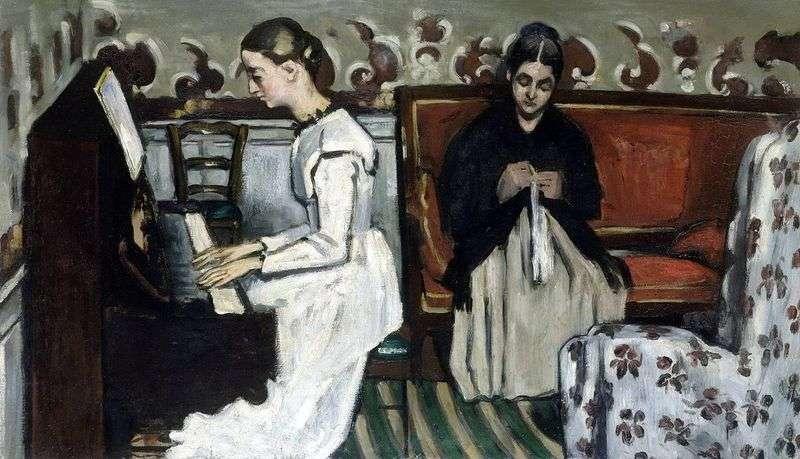 Dziewczyna na fortepianie (uwertura do Tannhauser)   Paul Cezanne
