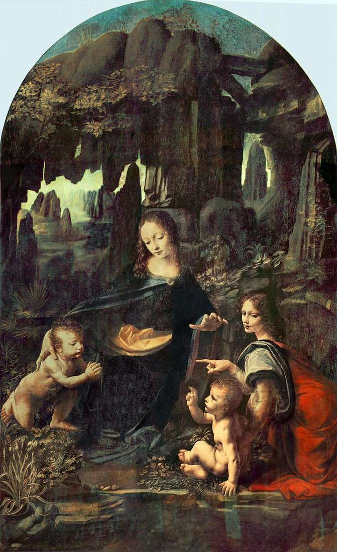 Madonna in the Rocks (Madonna in the Grotto)   Leonardo Da Vinci