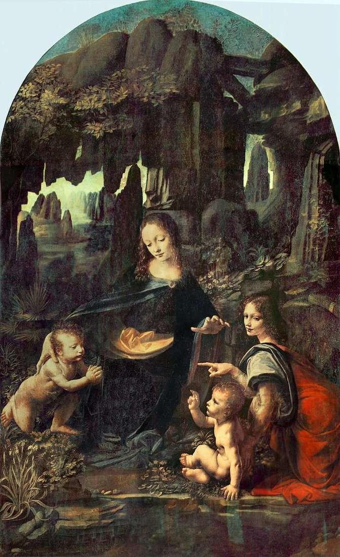 Madonna in the Rocks (Madonna in the Grotto)   Leonardo Da Vinci