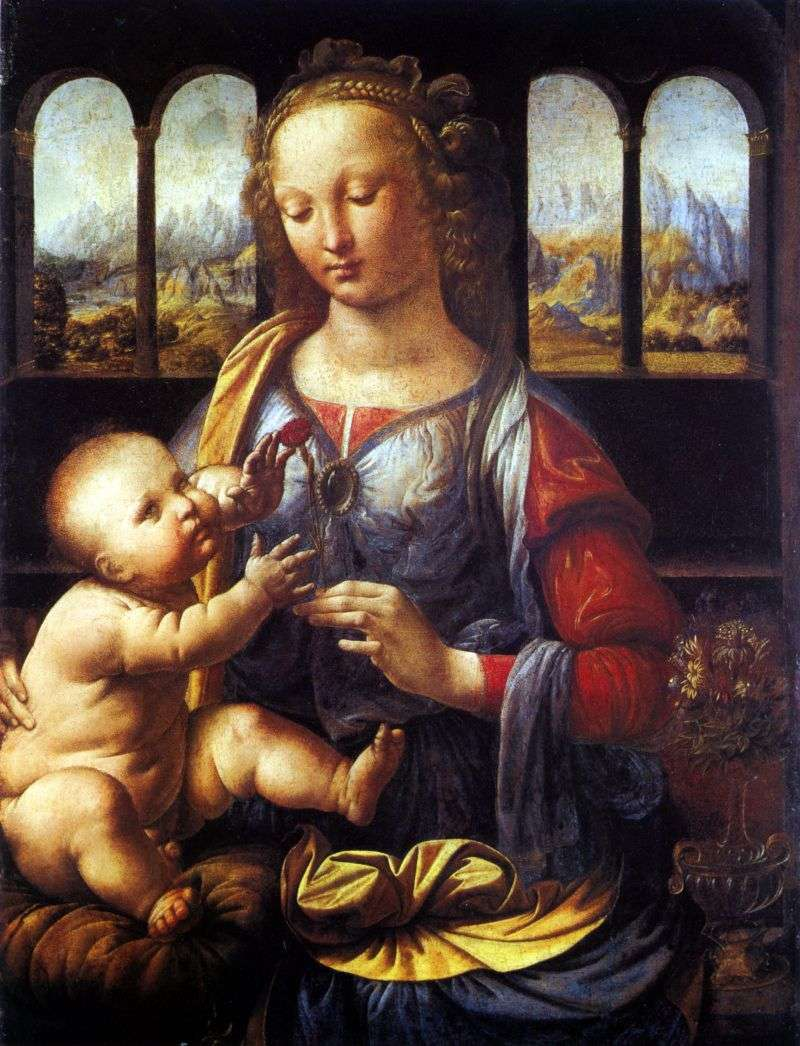 Madonna of the Carnation   Leonardo Da Vinci