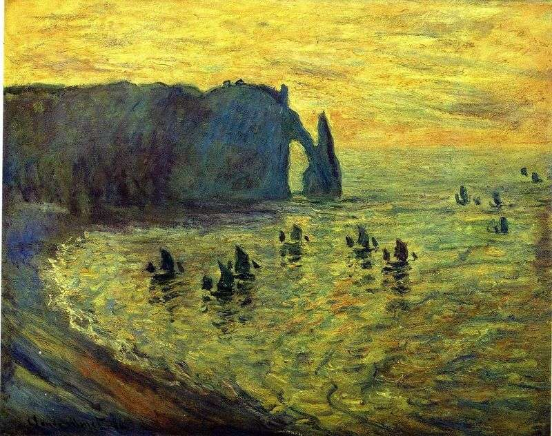 Skały w Etretat   Claude Monet