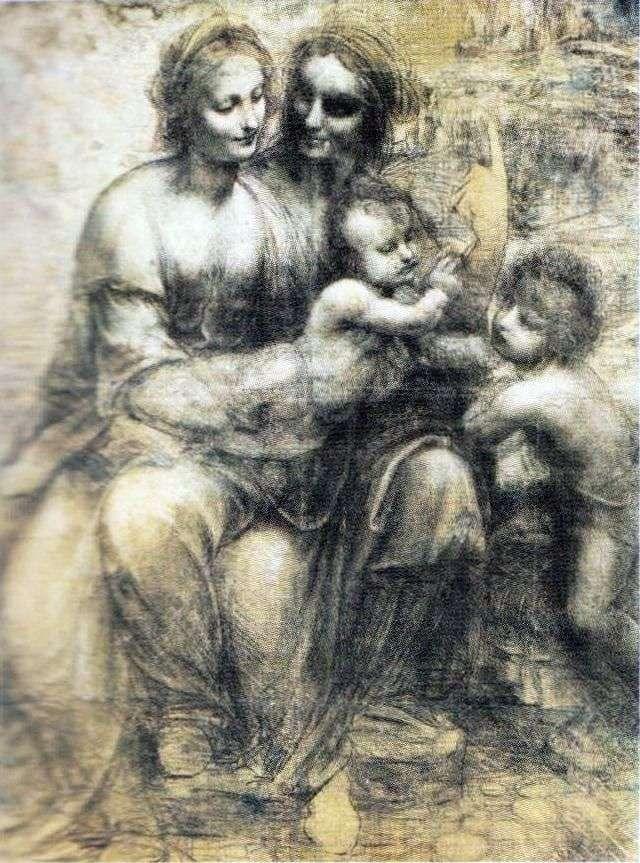 Madonna z Dzieciątkiem z Anną i Johnem   Leonardo da Vinci