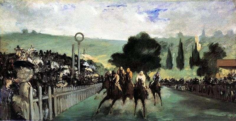 Wyścigi konne na Longchamp   Edouard Manet