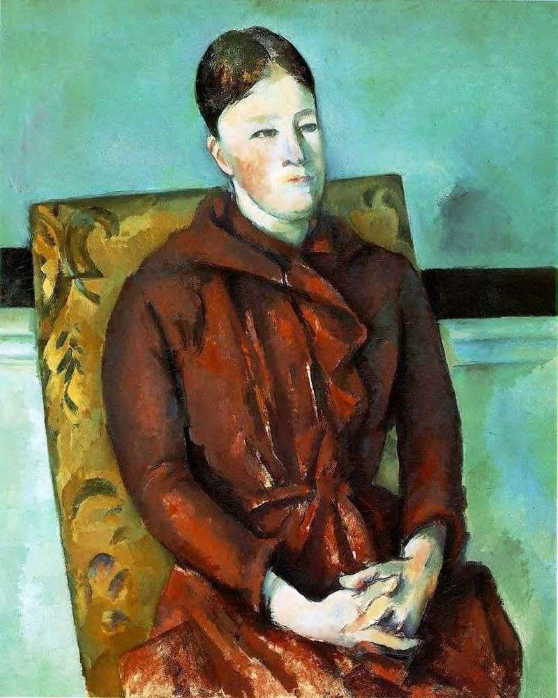 Żona artysty na żółtym krześle   Paul Cezanne