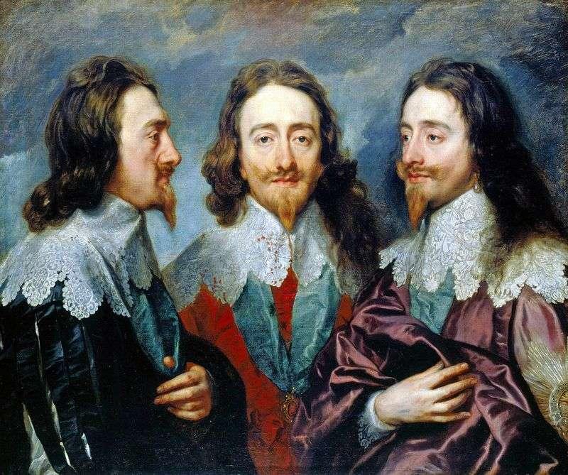 Charles I pod trzema kątami   Anthony Van Dyck