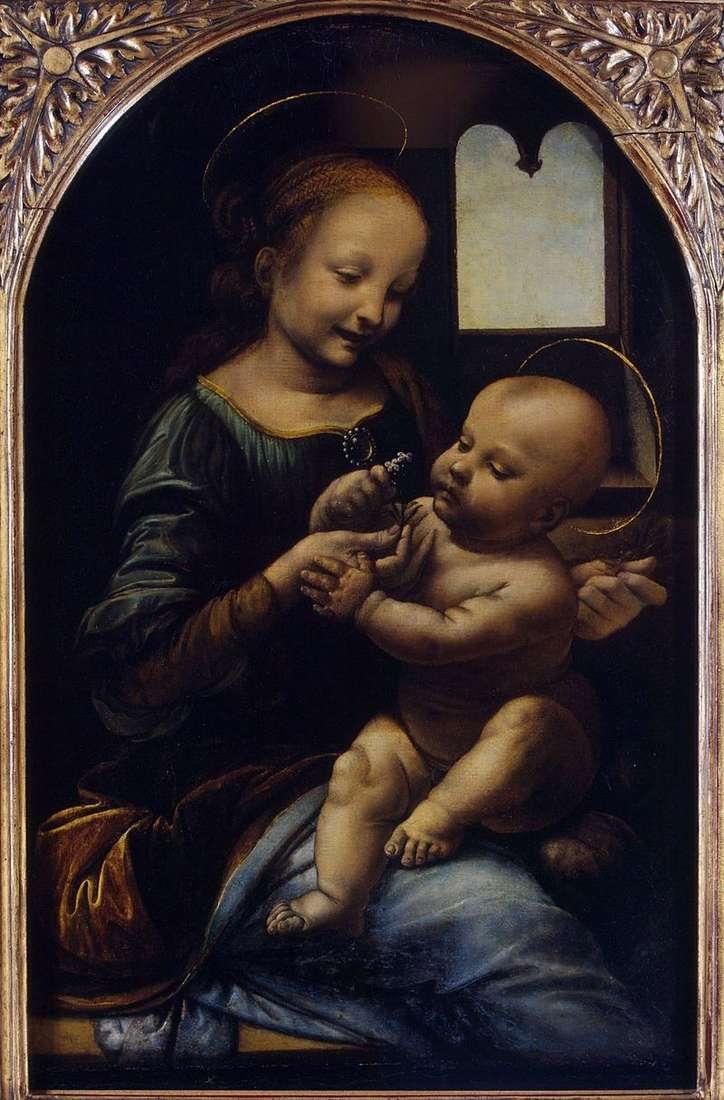 Madonna z kwiatem (Madonna Benoit)   Leonardo da Vinci