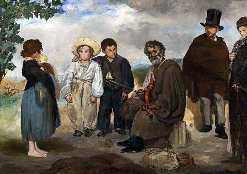 Stary muzyk   Edouard Manet