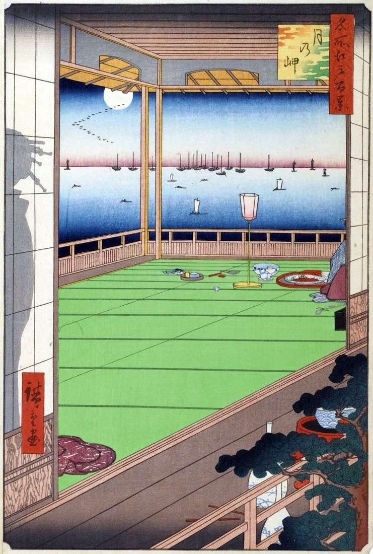 Moon over Cape   Utagawa Hiroshige