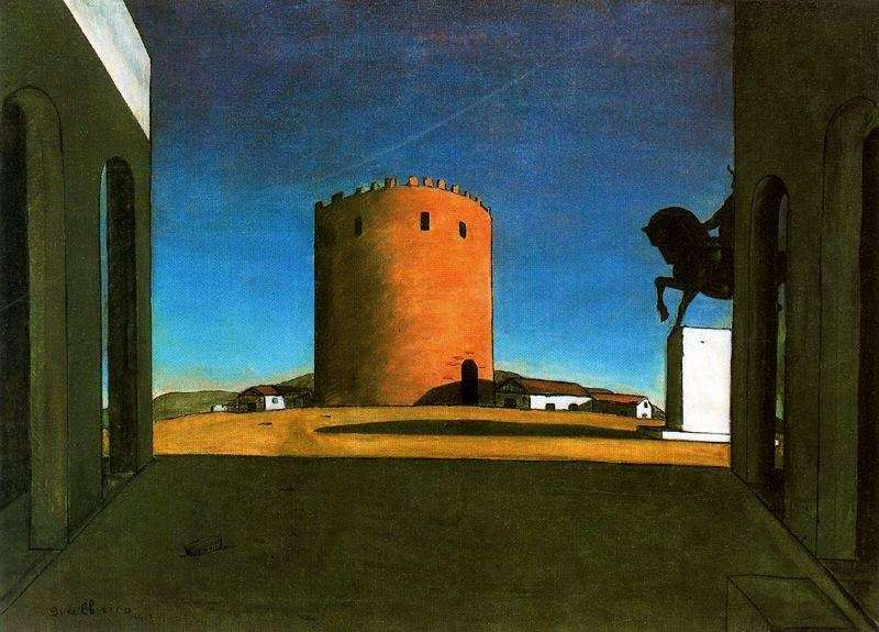 Czerwona wieża   Giorgio de Chirico