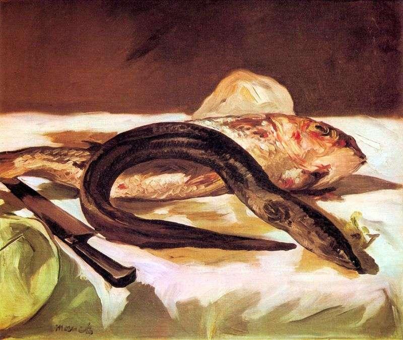 Węgorz i Mullet   Edouard Manet