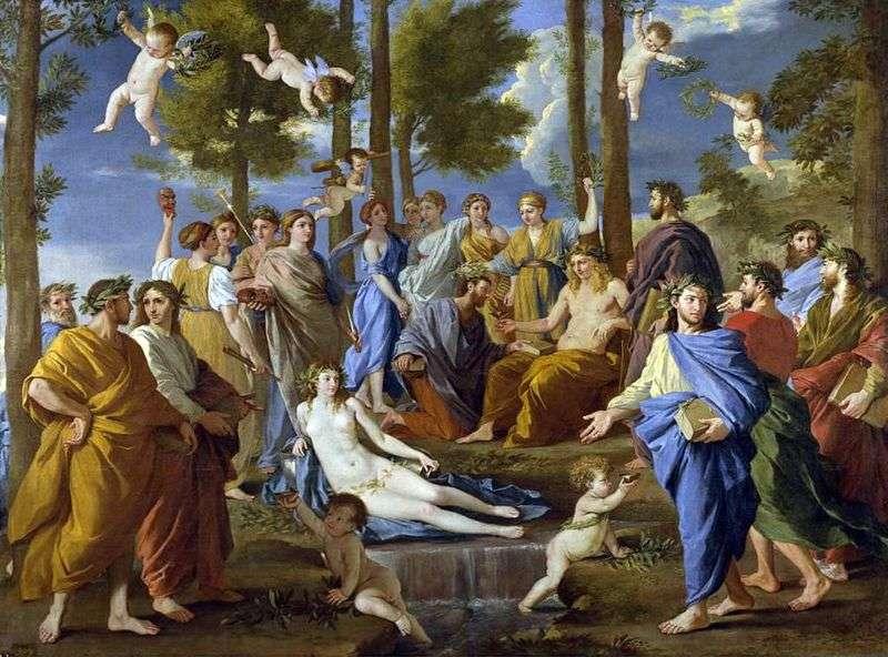 Apollo i Muzowie (Parnassus)   Nicolas Poussin