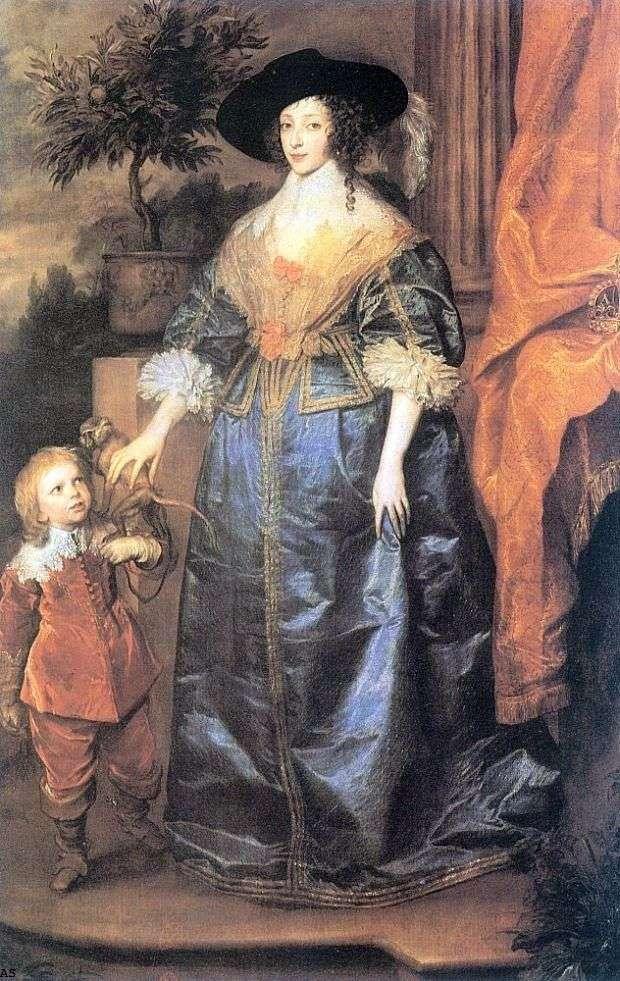Królowa Henrietta Maria i Sir Jeffrey Hudson   Anthony Van Dyck