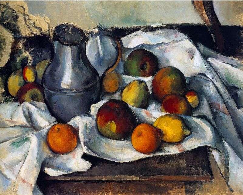 Dzbanek i owoce   Paul Cezanne