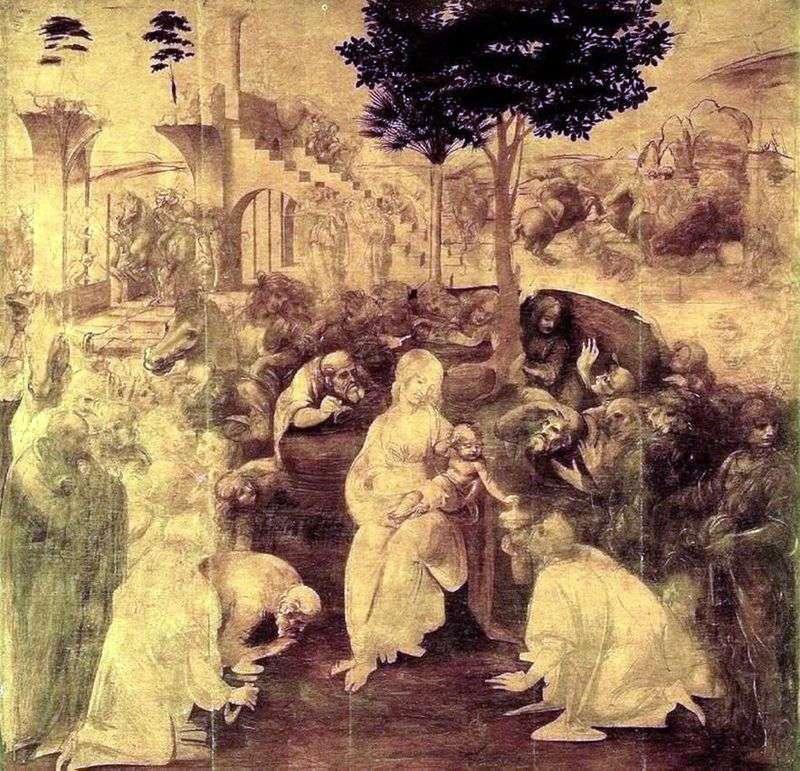 Adoracja Trzech Króli   Leonardo da Vinci