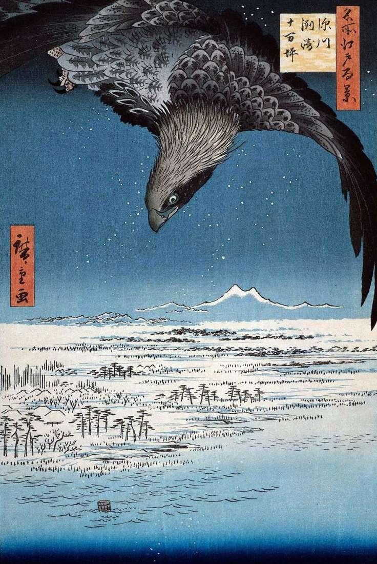 Obszar Susaki i Jumantsubo w Fukagawa   Utagawa Hiroshige