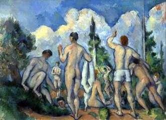 Kąpiący się   Paul Cezanne