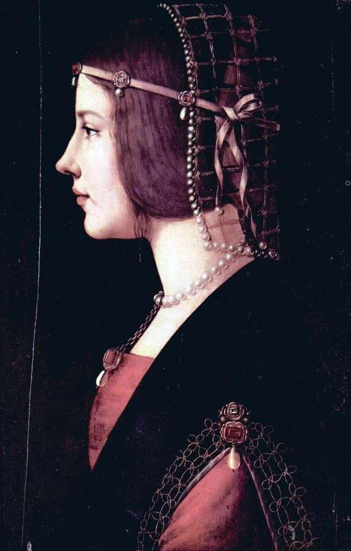 Portret Beatrice dEste   Leonardo Da Vinci