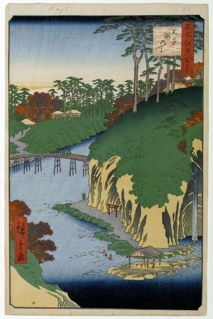 Takinawa Terrain w Oji   Utagawa Hiroshige