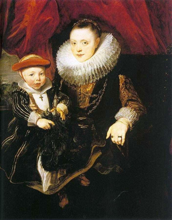 Młoda kobieta z dzieckiem   Anthony Van Dyck