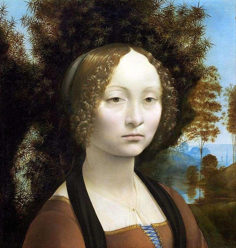 Portret Zinerva de Bensi   Leonardo da Vinci